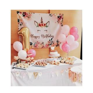 【PartyPack派對懶人包】浪漫花園獨角獸生日派對懶人包5件組(生日/週歲派對佈置)