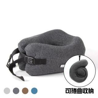 【JIDA】專利設計 可捲收納記憶棉U型枕