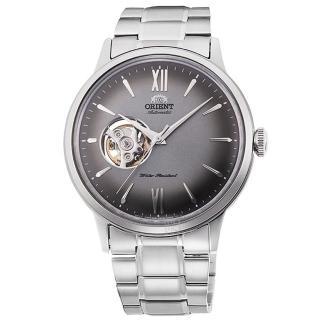 【ORIENT 東方錶】東方錶SEMI-SKELETON鏤空機械鋼帶錶-灰(RA-AG0029N)