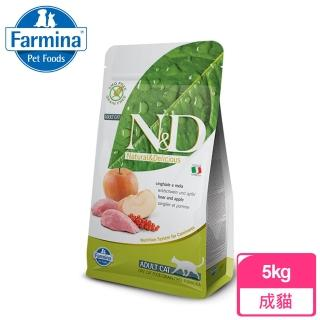 【Farmina 法米納】無穀ND全齡貓野豬蘋果-5kg(GC-5)