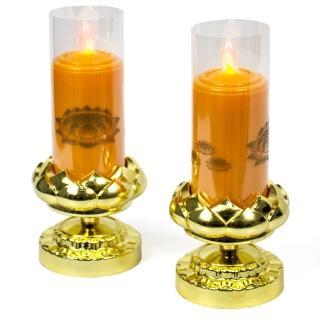 【AYAPU 悅亞普】電池式環保安全電子蠟燭(VX-CL938BT-橘)