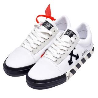 【OFF-WHITE】經典WMNS VULC系列條紋裝飾休閒鞋(白OWIA146R19800016)