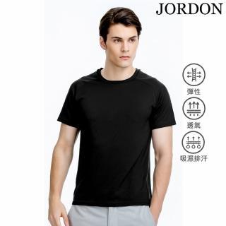 【JORDON 橋登】男款 吸濕快乾運動休閒圓領T恤(28117 黑色)
