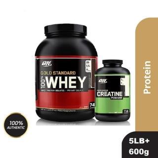 【美國 ON】金牌 WHEY 乳清蛋白+CREATINE 肌酸(5磅/罐 + 600g/罐)