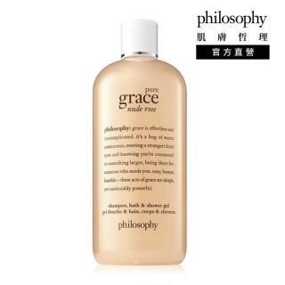 【philosophy 肌膚哲理】純淨優雅裸粉玫瑰洗髮沐浴露480ml