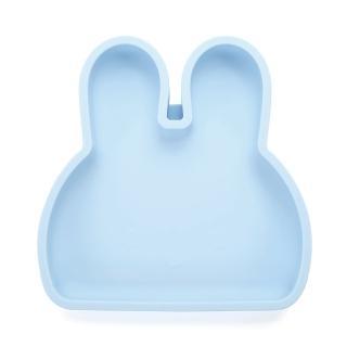 【新加坡bopomofo】兔兔矽膠餐盤-藍色夏威夷(矽膠餐具)