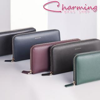 【Charming Bags】Elegant 真皮ㄇ字拉鍊長夾(LN-755-EL-W)