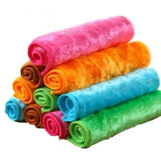 BB003 5入裝 木質纖維「魔術布」超細纖維雙面吸水抹布不沾油抹布洗碗巾洗碗布擦拭巾(神奇油切毛巾)