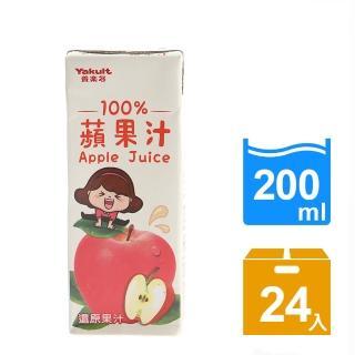 【Yakult 養樂多】100%蘋果汁(200ml*24入/組)