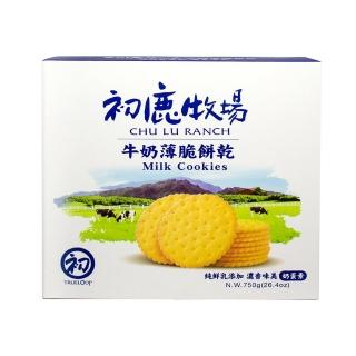 【初鹿牧場】牛奶薄脆餅乾(250g*3條/盒)