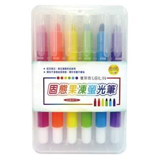 【UBILIN優筆霖】3UB3010 固態果凍螢光筆(六色組)