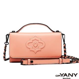【orYANY】HERITAGE 經典LOGO肩背手機皮夾(粉紅色)