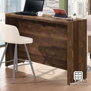 【Hampton 漢汀堡】克勞德系列工業風5尺吧檯工作桌(吧檯工作桌/書桌/桌子/吧檯桌/工作桌/內附插座及USB孔)
