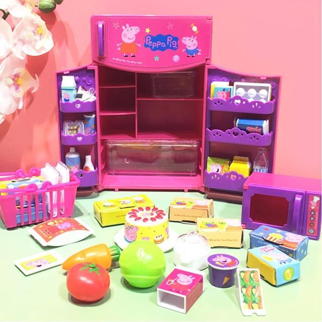【TDL】粉紅豬小妹佩佩豬冰箱玩具家家酒玩具組 011007