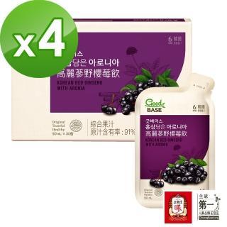 【正官庄】高麗蔘野櫻莓飲4盒組(50mlx30包/盒)