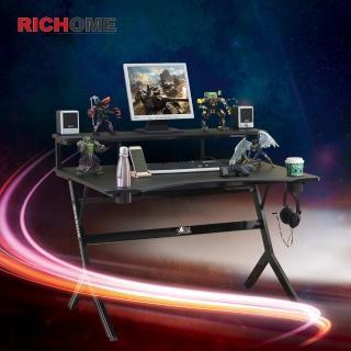 【RICHOME】戰神高手電競桌-雙杯架款(2色)