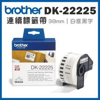 【brother】DK-22225★耐久型紙質連續標籤帶 38mm 白底黑字(速達)