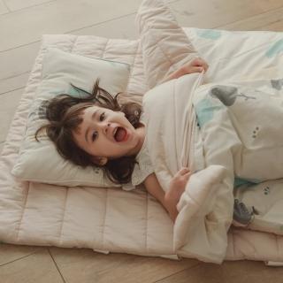 【翔仔居家】四季多用途兒童鋪棉睡袋(日向小花)