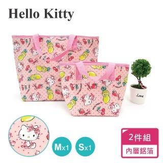 【SANRIO 三麗鷗】Hello Kitty 保溫保冷提袋2件組(M+S)