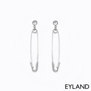 【Eyland】英國精品 Aoki Safety Pin 個性別針白金墜飾耳環