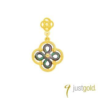 【Just Gold 鎮金店】喜‧如意純金系列 黃金單耳耳環(雅緻)