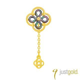 【Just Gold 鎮金店】喜‧如意純金系列 黃金單耳耳環