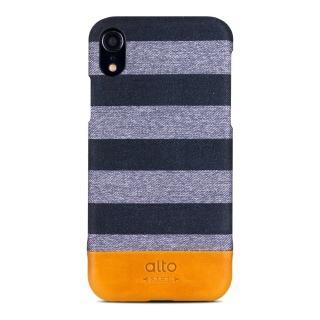 【alto 奧沰】iPhone XR 6.1吋皮革保護殼 Denim – 灰條紋(iPhone 保護殼)