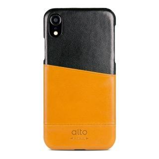 【alto 奧沰】iPhone XR 6.1吋皮革保護殼 Metro - 焦糖棕/ 渡鴉黑(iPhone 保護殼)
