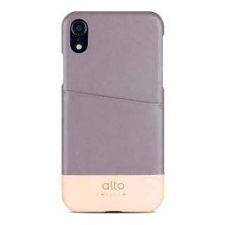 【alto 奧沰】iPhone XR 6.1吋皮革保護殼 Metro - 礫石灰/ 本色(iPhone 保護殼)