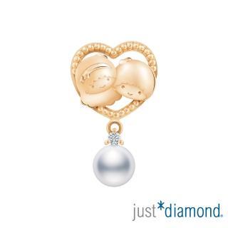 【Just Diamond】玫瑰金鑽石Sweet Together系列 單耳耳環-Little Twin Stars
