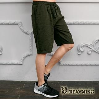 【Dreamming】輕薄涼爽抽繩彈力休閒運動短褲(共三色)