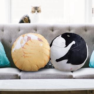 【TRP】貓咪圓形抱枕靠墊(兩款任選)