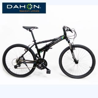 【DAHON】大行 Espresso D24 通勤代步新選擇26吋24速鋁合金前避震折疊單車-黑色(大折)