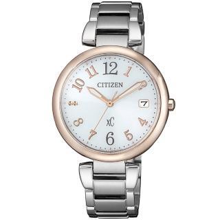 【CITIZEN 星辰】xC廣告款 光動能亞洲限定女錶-33mm/玫瑰金x銀(EO1195-51A)