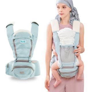 【yoda】全配花色透氣儲物座椅式揹帶(優雅藍)