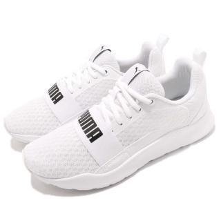 【PUMA】慢跑鞋 Wired 低筒 運動 男女鞋 基本款 情侶鞋 大logo 穿搭 舒適 白 黑(36697002)