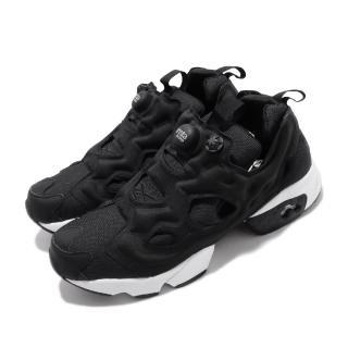 【REEBOK】休閒鞋 Instapump Fury 男女鞋 經典款 襪套 充氣科技 情侶鞋 穿搭 黑 白(DV6985)