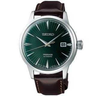 【SEIKO 精工】PRESAGE 調酒師動力儲存機械錶-綠(4R35-01T0M/SRPD37J1)