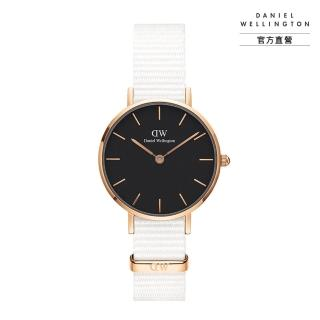 【Daniel Wellington】官方直營 Petite Dover 28mm純淨白織紋錶(DW手錶DW00100314)