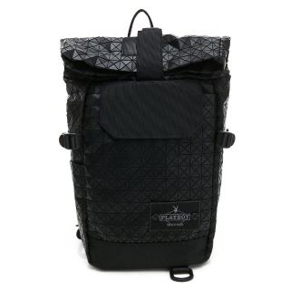 【PLAYBOY】單肩背包亦可做後背包  lifestyle系列(黑色)