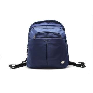 【DRAKA 達卡】俐落雅致系列-多層次拉鍊後背包-藍(44DK59478636)