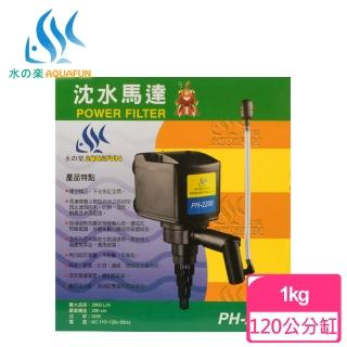 【AQUAFUN 水之樂】PH-2200 沈水馬達(適用120公分魚缸)