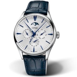 【ORIS 豪利時】Artelier月相盈虧機械錶(0178177294051-0752166FC)