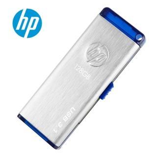 【HP 惠普】128GB USB 3.0金屬髮絲紋隨身碟(X730w)