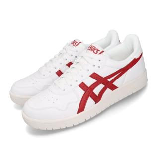 【asics 亞瑟士】休閒鞋 Japan S 板鞋 低筒 男鞋 亞瑟士 復古 基本 百搭 球鞋穿搭 白 紅(1191A212100)