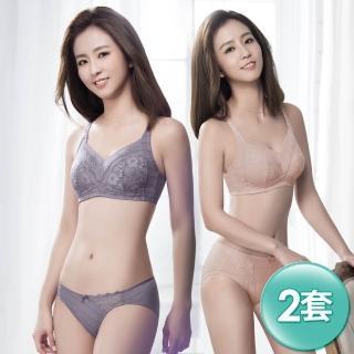 【Swear 思薇爾】輕沁舒系列B-E罩無鋼圈蕾絲包覆內衣2套組(隨機出貨)