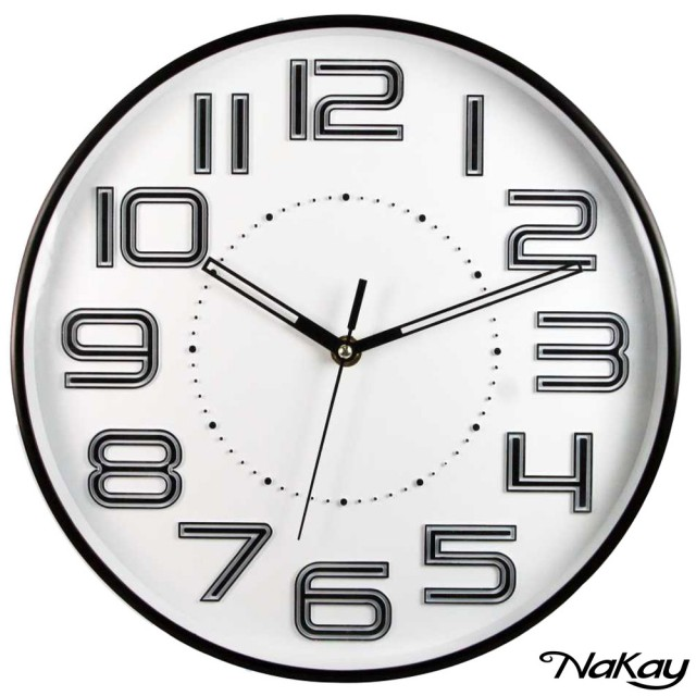 【NAKAY】12吋超靜音立體數字掛鐘(NCL-37)/