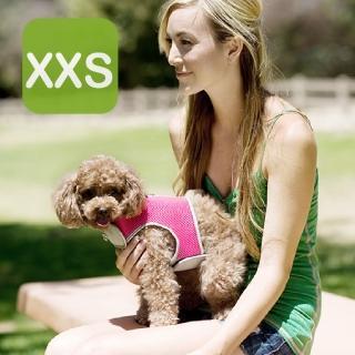 【crazypaws 瘋狂爪子】多層次透氣網布護胸XXS號-寵物外出胸背帶(寵物護胸/寵物項圈/胸背帶)