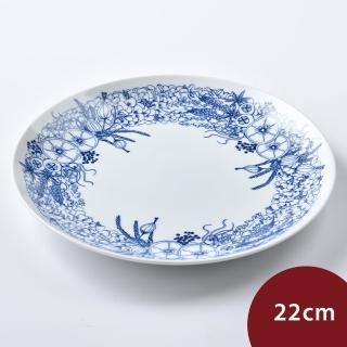 【日本 Natural69】波佐見燒 Kranz系列 圓形淺盤 花園 22cm