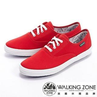 【WALKING ZONE】果漾YOUNG純棉帆布女鞋(紅)